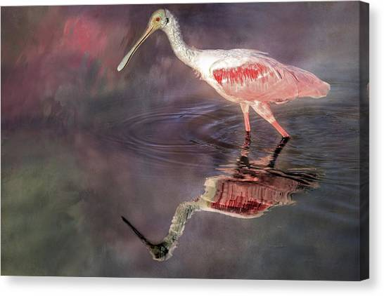 Spoonbills Canvas Print - Lovin' Spoonful by Donna Kennedy