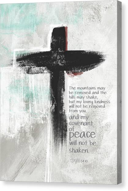 Spiritual Canvas Print - Loving Kindness Cross- Art By Linda Woods by Linda Woods