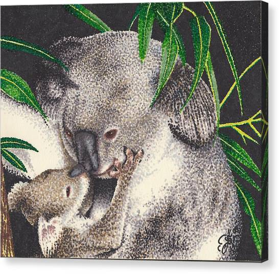Loving Kiss Canvas Print by Scarlett Royal