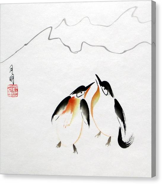 Loving Pair Canvas Print by Ming Yeung