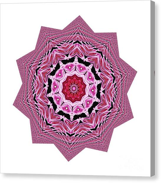 Loving Rose Mandala By Kaye Menner Canvas Print