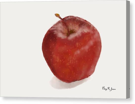 Canvas Print featuring the digital art Loving The Big Apple by Barry Jones