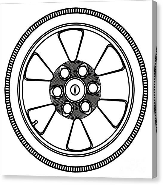 Spare Tyre Canvas Prints