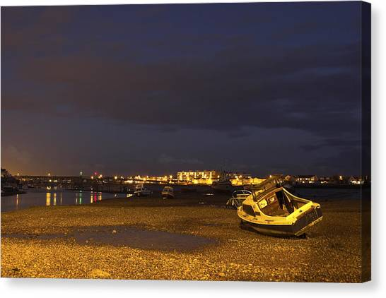 Low Tide At Dusk Canvas Print