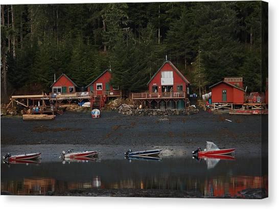 Low Tide At Fish Camp Canvas Print