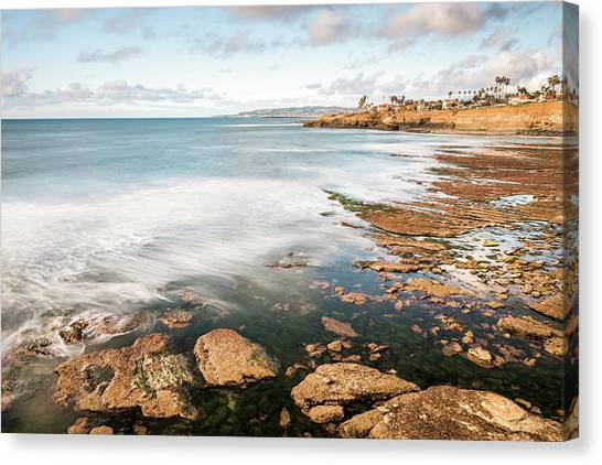 Low Tide At Sunset Cliffs Canvas Print
