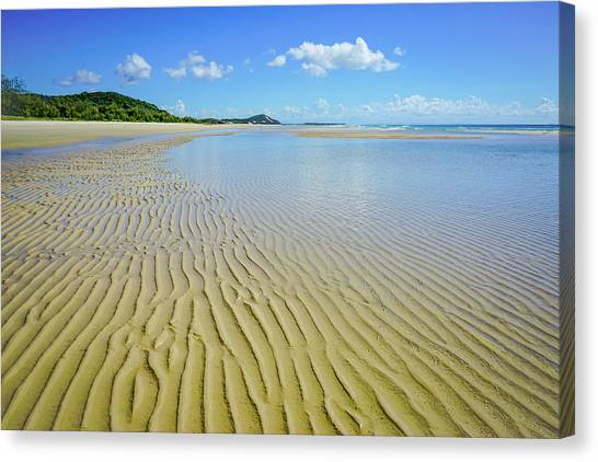 Low Tide Beach Ripples Canvas Print