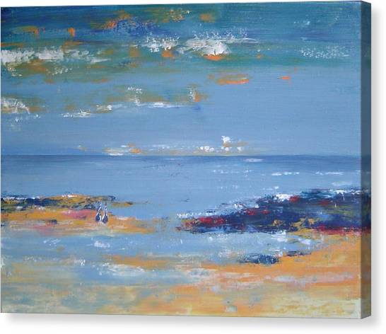 Low Tide Canvas Print by Bridgette  Allan