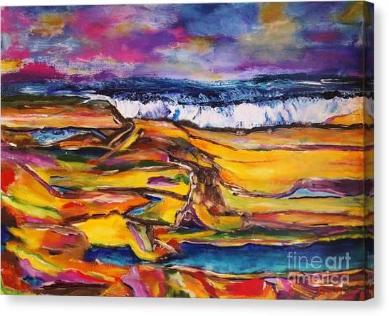 Low Tide Canvas Print by Chaline Ouellet