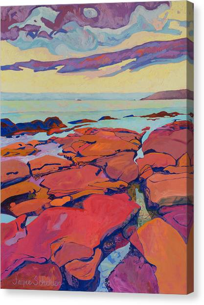 Cal Poly Canvas Print - Low Tide by Jayne Schelden