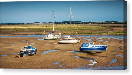 Canvas Print featuring the photograph Low Tide by Nick Bywater
