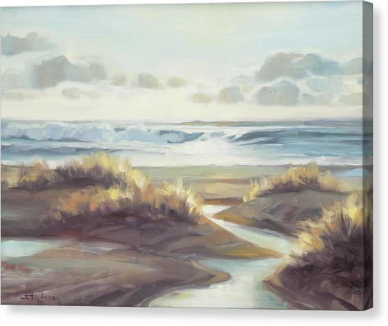 Sunset Horizon Canvas Print - Low Tide by Steve Henderson