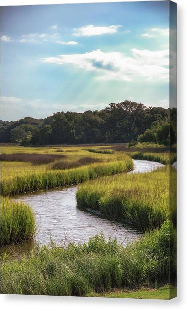 Marshes Canvas Print - Lowcountry Creek by Drew Castelhano