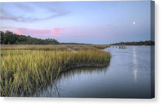 Lowcountry Marsh Grass On The Bohicket Canvas Print