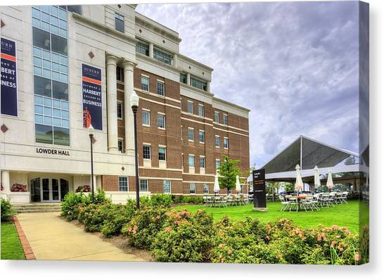 The University Of Alabama Canvas Print - Lowder Hall by JC Findley