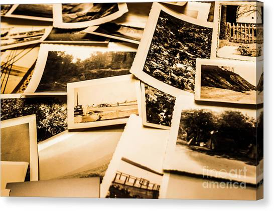 Vintage Polaroid Canvas Print - Lowdown On A Vintage Photo Collections by Jorgo Photography - Wall Art Gallery