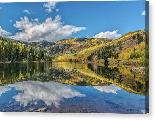 Lower Cataract Lake Aspen Canvas Print