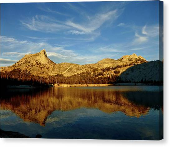 Lower Cathedral Lake Late Afternoon Canvas Print