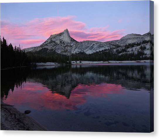 Lower Cathedral Lake Sunset Canvas Print