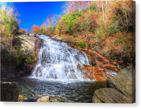 Lower Falls At Graveyard Fields Canvas Print