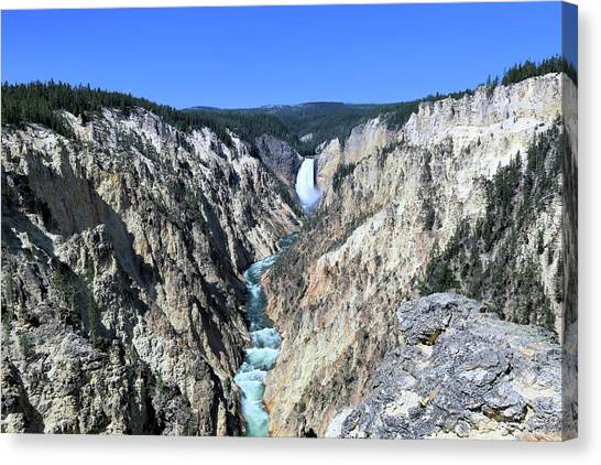 Lower Falls From Artist Point Canvas Print