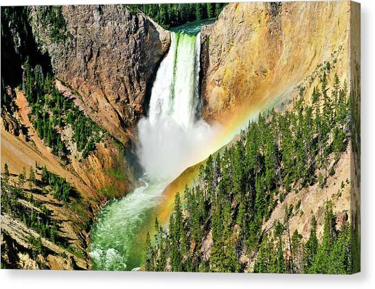 Lower Falls Rainbow Canvas Print