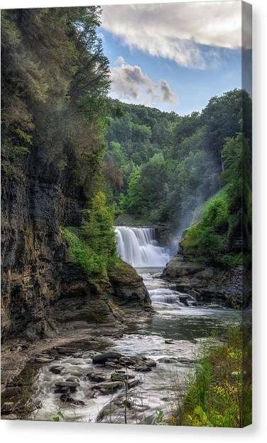 Lower Falls - Summer Canvas Print