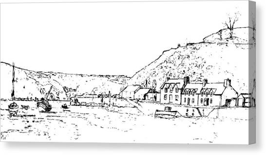 Lower Fishguard Canvas Print by Frank Hamilton