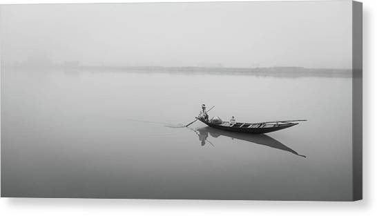 Lower Ganges - Misty Morinings Canvas Print