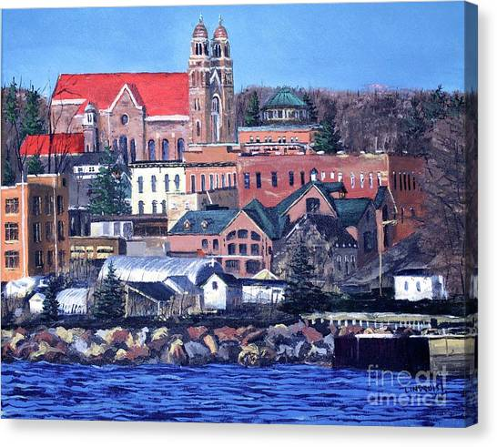Michigan Canvas Print - Lower Harbor-marquette Michigan by Tim Lindquist