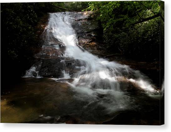 Lower Helton Creek Falls Canvas Print by Dave Clark