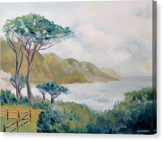 Lower Kloof Road Cape Town South Africa Oil Painting Canvas Print by Mark Webster