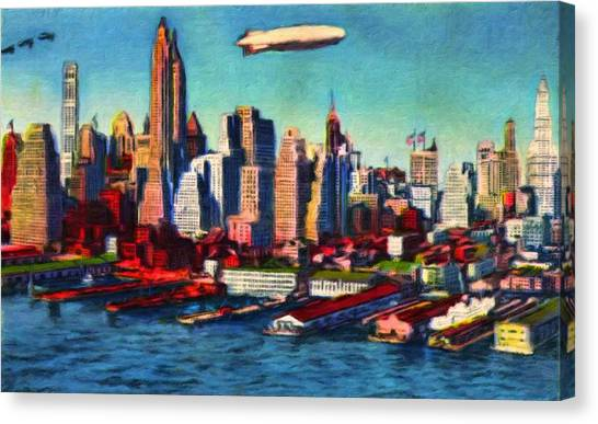 Lower Manhattan Skyline New York City Canvas Print
