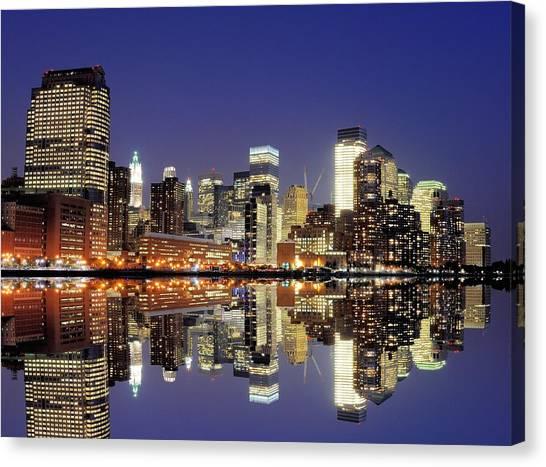 Lower Manhattan Skyline Canvas Print by Sean Pavone
