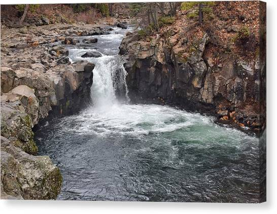 Lower Mccloud Falls Canvas Print