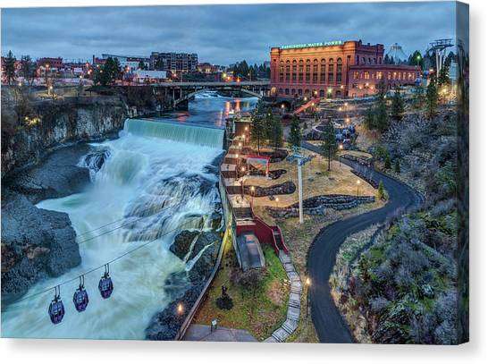 Lower Spokane Falls Early Spring Canvas Print