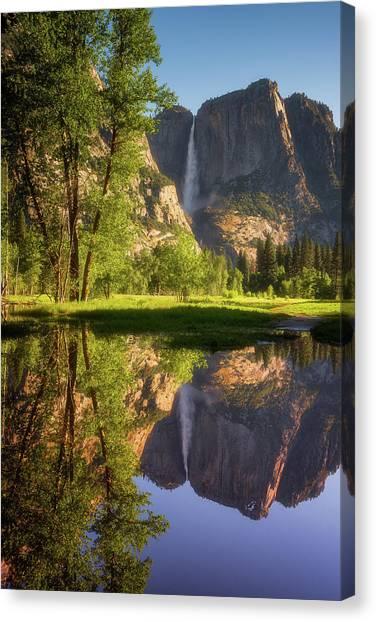 Yosemite Falls Canvas Print - Lower Yosemite Morning by Darren White