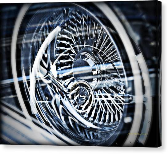 Lowrider Wheel Illusions 1 Canvas Print