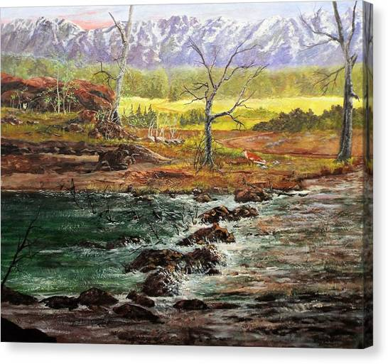Lowwater Crossing  Canvas Print