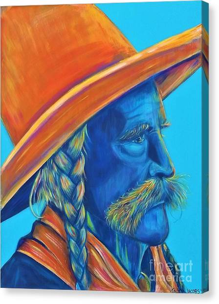 Oklahoma State University Canvas Print - Loyal And True Frank Eaton by Talitha Jacobs