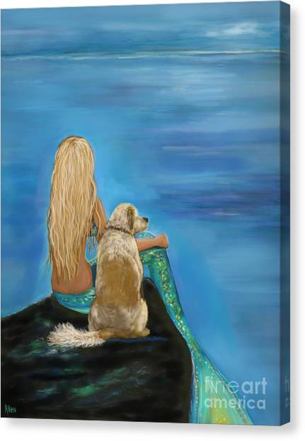 Loyal Mermaids Friend Canvas Print