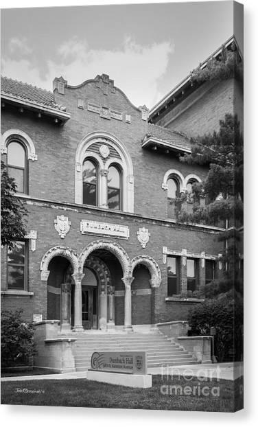 Mvc Canvas Print - Loyola University Dumbach Hall by University Icons