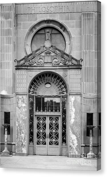 Loyola University Chicago Canvas Print - Loyola University Strada Chapel Doorway by University Icons