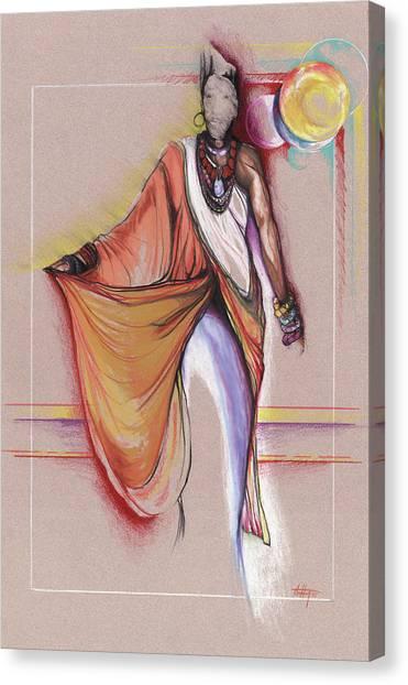 Lpr Black Woman Canvas Print