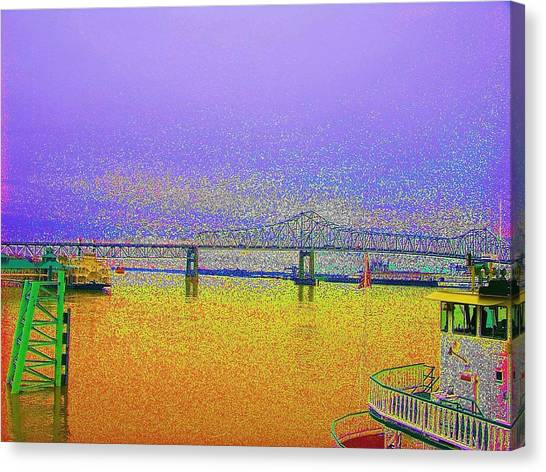 Lsu Bleeds Purple And Gold Canvas Print
