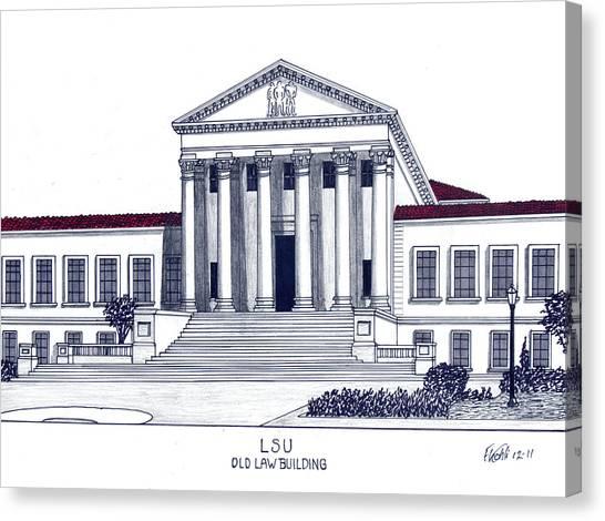 Lsu Old Law Building Canvas Print