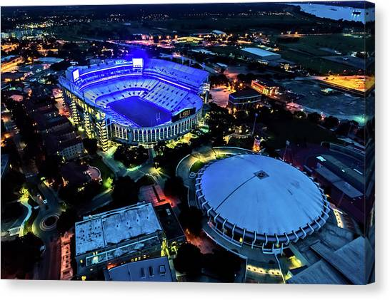 Lsu Tiger Stadium Supports Law Enforcement Canvas Print