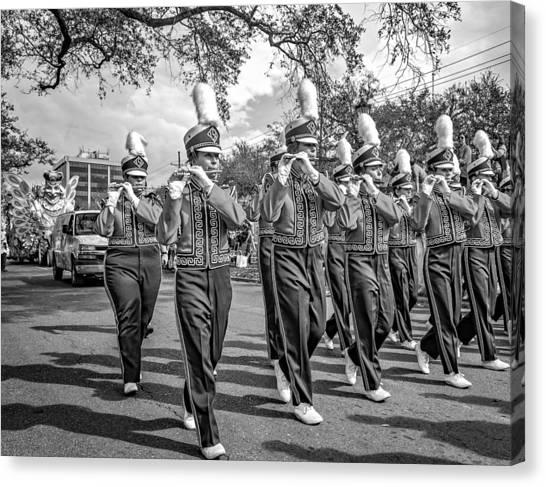 Louisiana State University Lsu Canvas Print - Lsu Tigers Band 5 - Bw by Steve Harrington