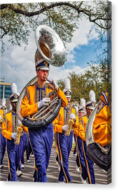 Louisiana State University Lsu Canvas Print - Lsu Tigers Band 6 by Steve Harrington