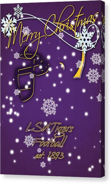 Lsu Canvas Print - Lsu Tigers Christmas Card by Joe Hamilton